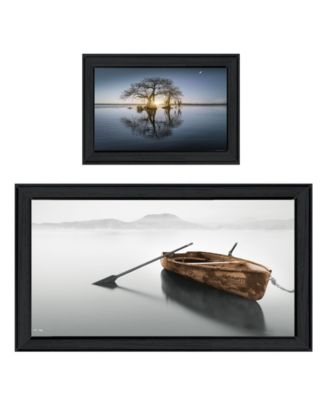Tree Reflections 2-Piece Vignette by Moises Levy, White Frame, 39
