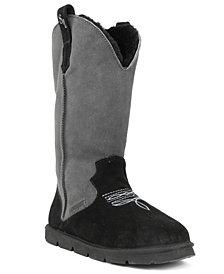 SUPERLAMB Women's Cowboy Extra Wide Calf Boots