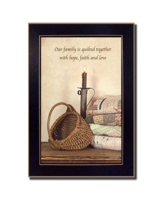 Quilted Together By SUSAn Boyer, Printed Wall Art, Ready to hang, Black Frame, 14