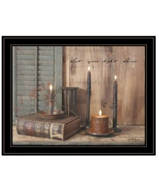 Let Your Light Shine by Billy Jacobs, Ready to hang Framed Print, White Frame, 19