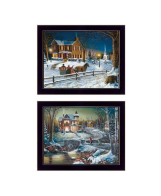 Home for the Holidays Collection By Jim Hansen, Printed Wall Art, Ready to hang, White Frame, 18