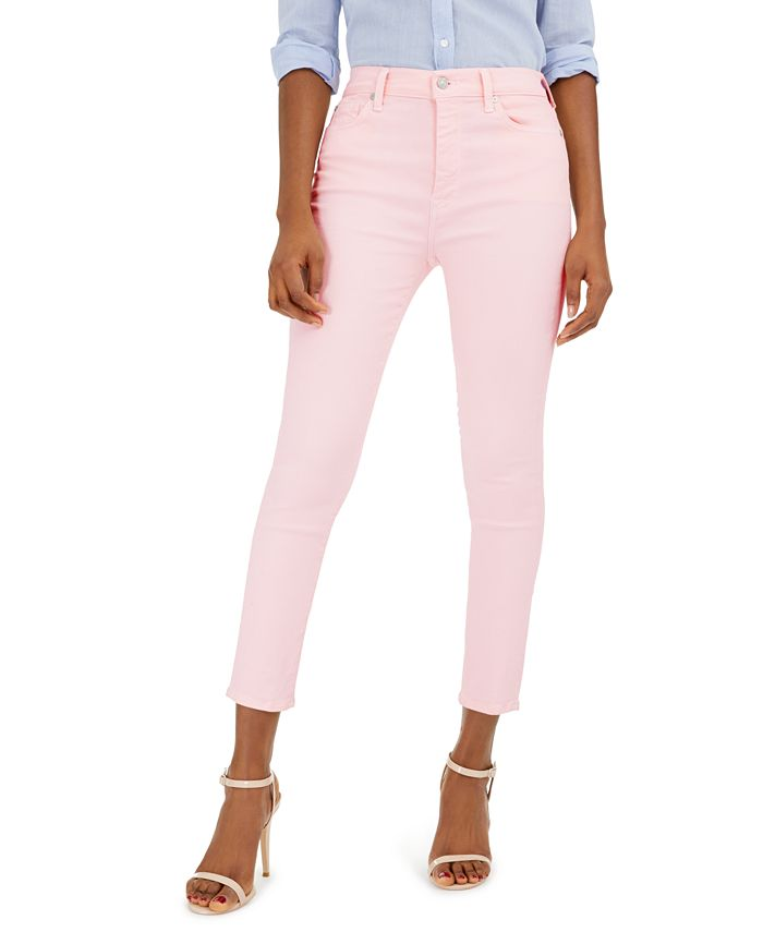 7 For All Mankind - High-Rise Ankle Skinny Jeans