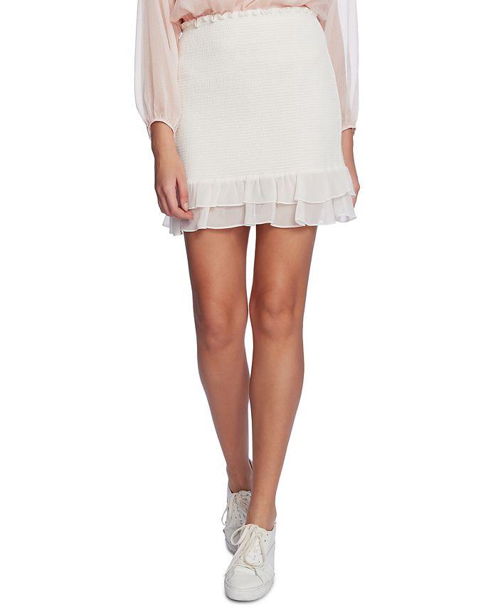 1.STATE - Smocked Mini Skirt