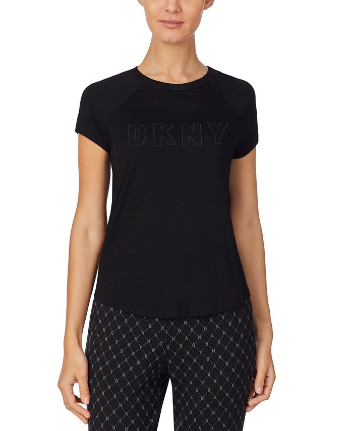 DKNY - Contrast-Trim Sleep T-Shirt