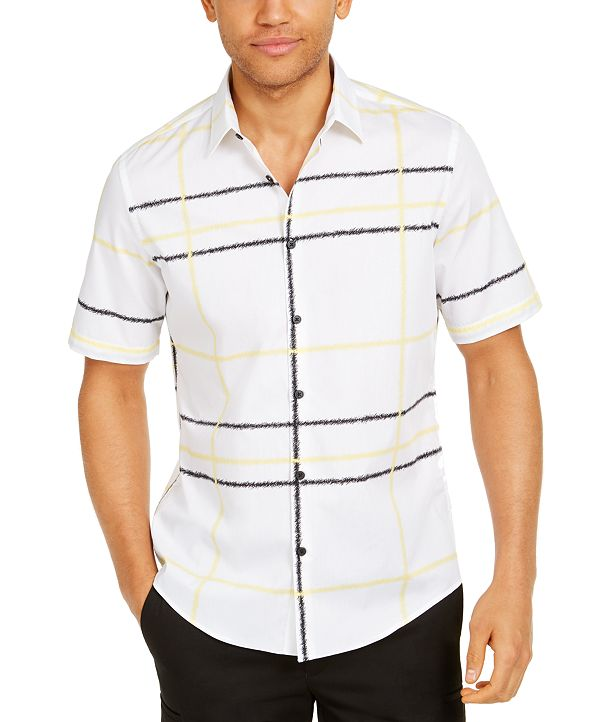 Alfani Men's Jones Plaid Cotton Shirt, Created for Macy's