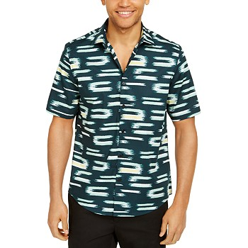 Alfani Men's Classic-Fit Abstract Geo-Print Shirt