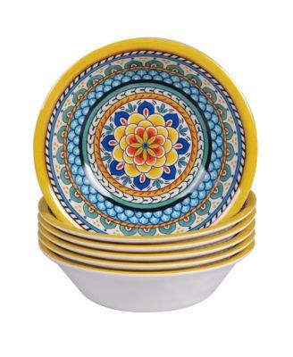 Portofino Melamine 6-Pc. All Purpose Bowls