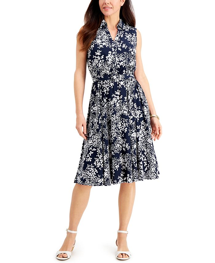 Charter Club - Floral-Print Shirtdress, Created For Macy's
