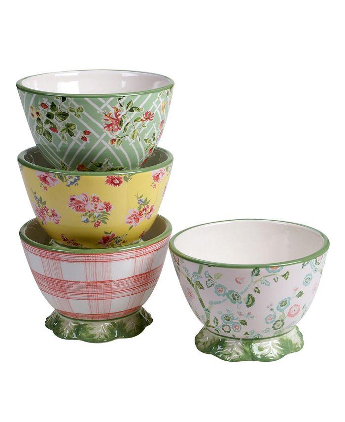 Tracy Porter - English Garden 4-Pc. Pedestal Ice Cream Bowls asst.