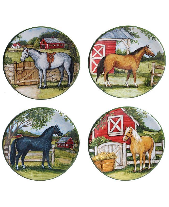 Certified International - Clover Farm 4-Pc. Canape Plates asst.