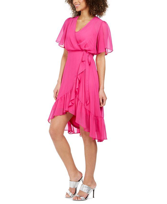 Calvin Klein - High-Low Chiffon Dress