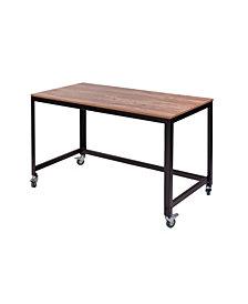 OneSpace Loft Writing Desk, Classic Oak