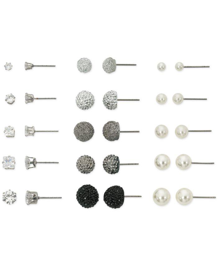 Macy's Mega Box Earring Stud Set & Reviews - Fashion Jewelry - Jewelry & Watches - Macy's