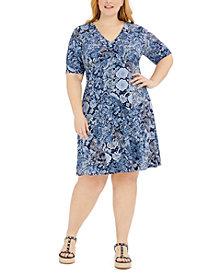 Michael Michael Kors Plus Size Paisley-Print Dress