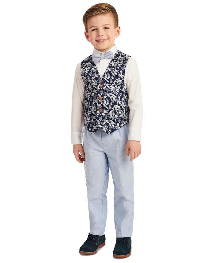 Nautica - Toddler Boys 4-Pc. Tropical-Print Vest Set