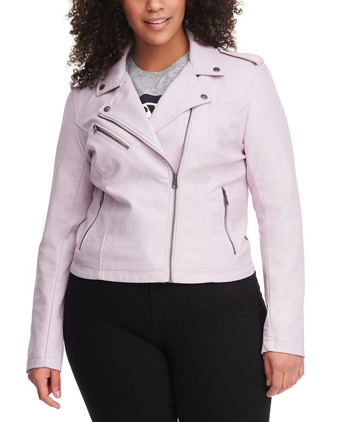Levi's - Plus Size Faux-Leather Moto Jacket