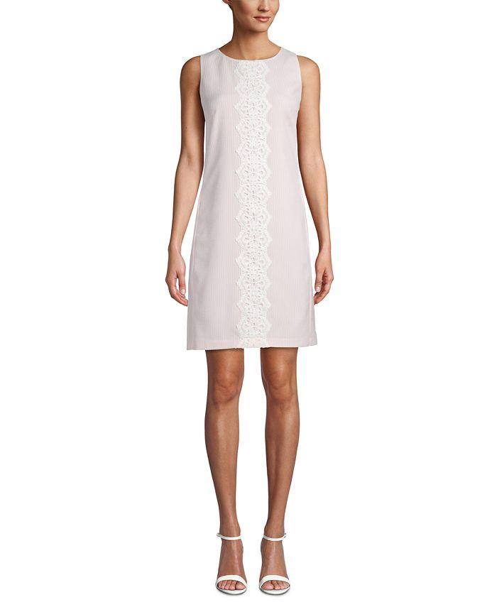 Pappagallo - Mommy & Me Lace-Trim Striped Shift Dress