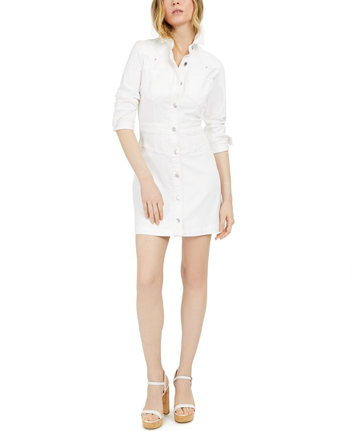 GUESS - Sara Long-Sleeve Denim Dress