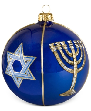 Joy to the World Judaica Round Ball Hanukkah Ornament