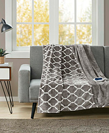 Beautyrest Oversized Ogee Print Electric Throw