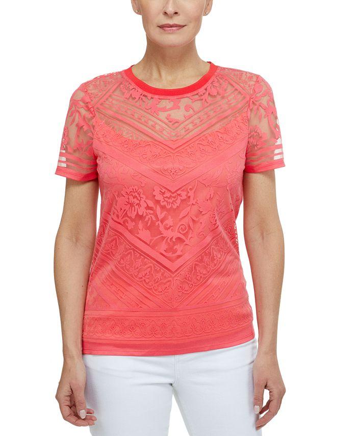Laundry by Shelli Segal - Burnout Short Sleeve T-Shirt