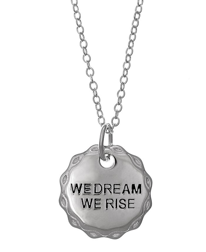 Girl Rising - Sterling Silver Pendant Necklace - We Dream We Rose