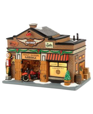 Department 56 Christmas in the City Harley Davidson Garage Collectible Figurine