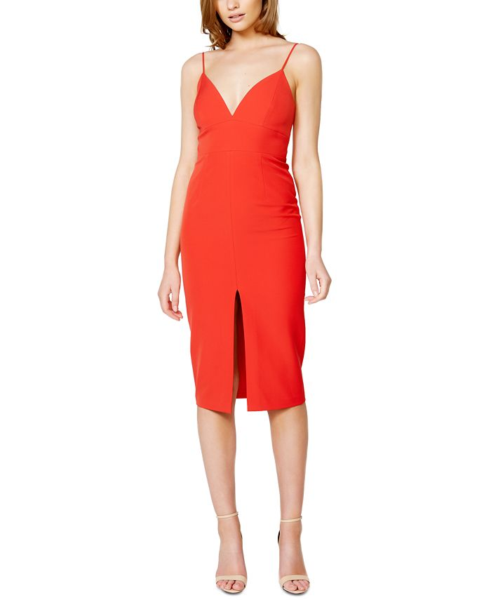 Bardot - Ava Slit-Front Midi Dress