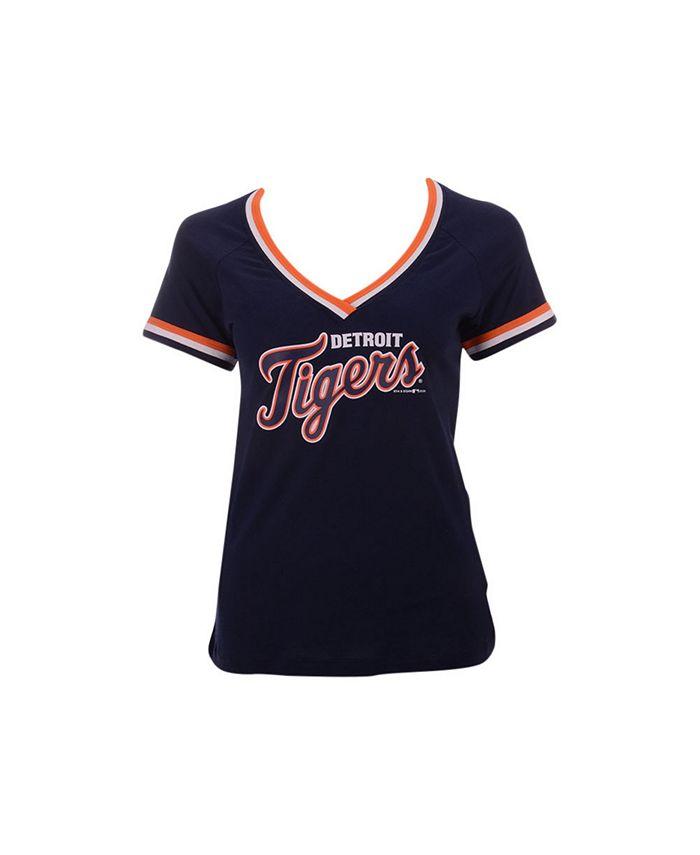 5th & Ocean - Women's Detroit Tigers Contrast Binding T-Shirt