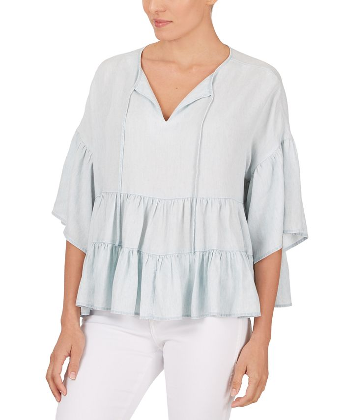Adyson Parker - Tiered-Hem Peasant Top