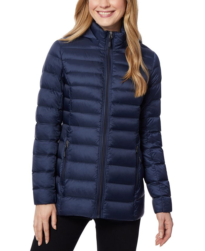 32 Degrees - Packable Hooded Puffer Coat