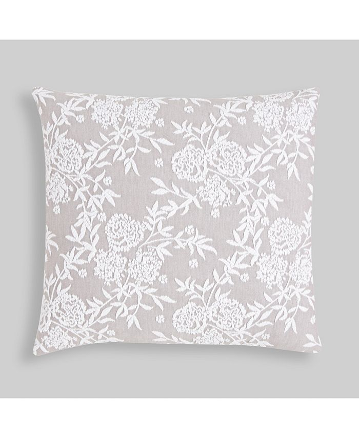 Hedaya Home - Made in Portugal Helen Matelasse Floral Throw Pillow