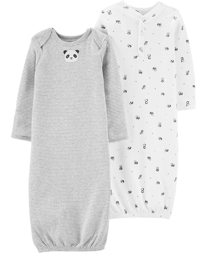 Carter's - Baby Boys & Girls 2-Pk. Cotton Panda Sleeper Gowns