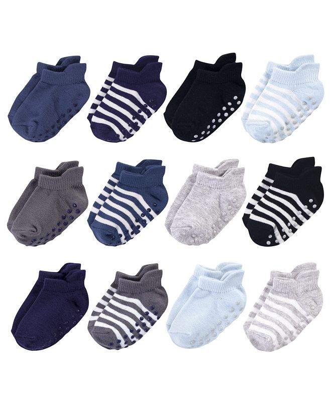 Touched by Nature Baby Boys and Girls Socks with Non-Skid Gripper for Fall Resistance