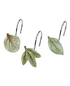 Avanti Ombre Leaves Shower Hooks, Set of 12