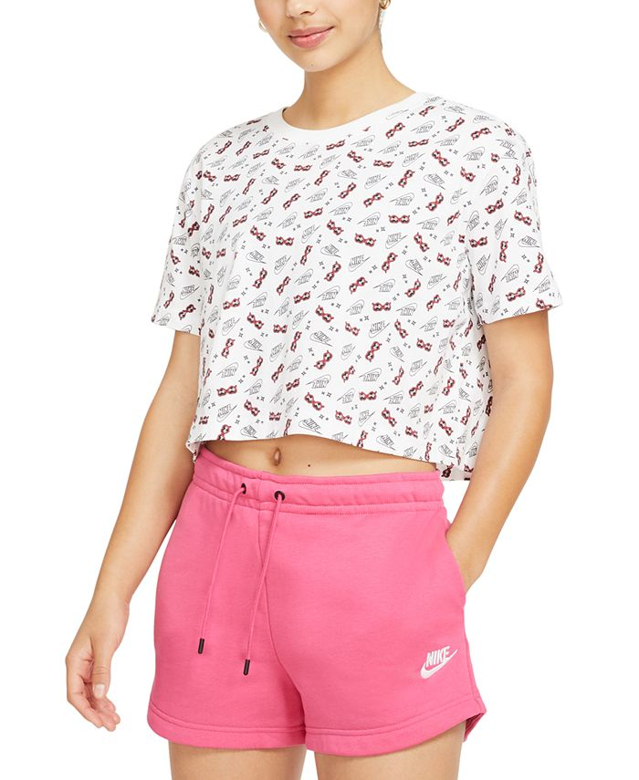 Nike - Cotton Printed Cropped T-Shirt