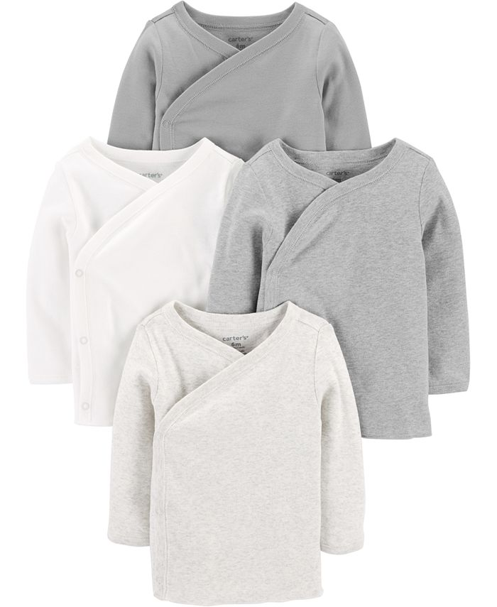 Carter's - Baby Boys or Girls 4-Pack Side-Snap Cotton Shirts