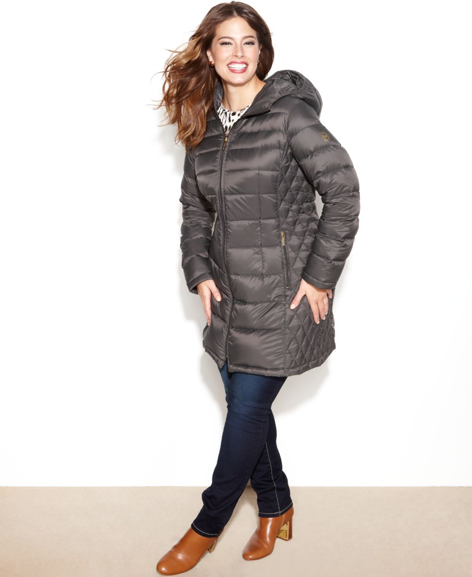 ff0a42326a5 MICHAEL Michael Kors Plus Size Hooded Quilted Down Packable Puffer Coat  Women