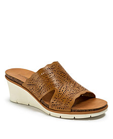Baretraps Barb Laser Cut Slip-on Wedge Sandals