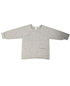 Earth Baby Outfitters Baby Boys and Girls Organic Cotton Raw Edge Sweater