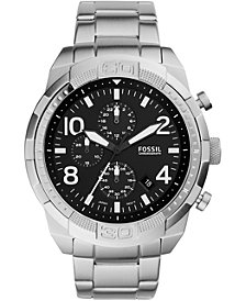 Fossil Men's Chronograph FB-03 Stainless Steel Bracelet Watch 50mm