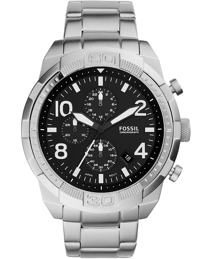 Fossil - Men's Chronograph FB-03 Stainless Steel Bracelet Watch 50mm