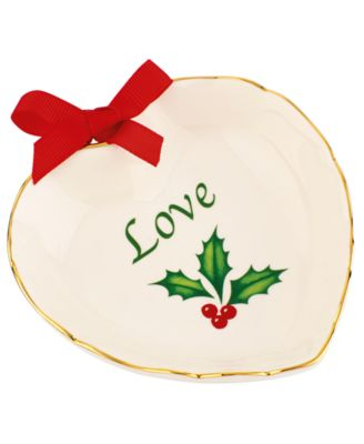 Lenox Holiday Love Heart Dish
