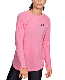 Under Armour Women's Charged Cotton® Adjustable Long-Sleeve T-Shirt