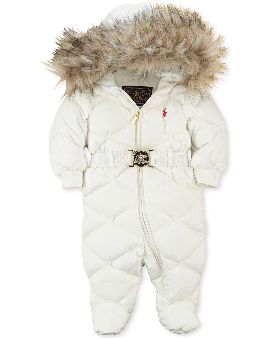 Ralph Lauren Baby Snowsuit, Baby Girls Down Snowsuit   Kids