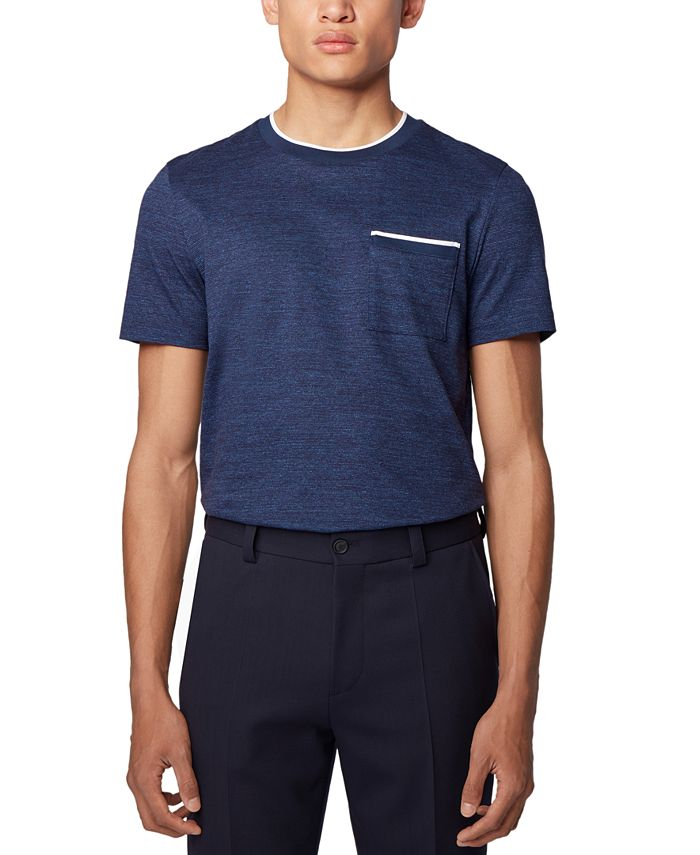 Hugo Boss - Men's Tessler 134 Open Blue T-Shirt
