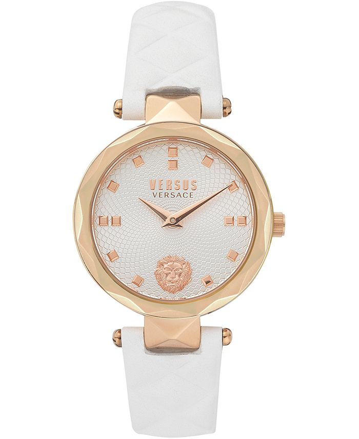 Versus by Versace - Women's Covent Garden Petite White Leather Strap Watch 32mm