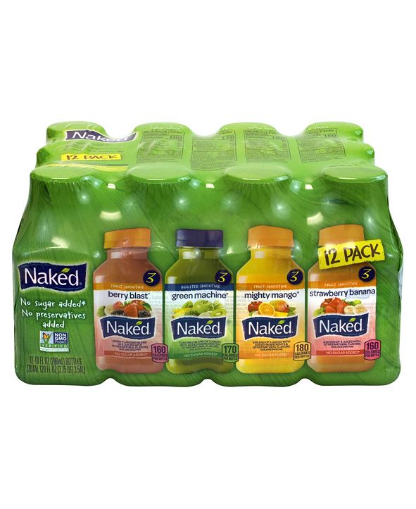 Naked Juice Variety Pack, 10 oz, 12 Count
