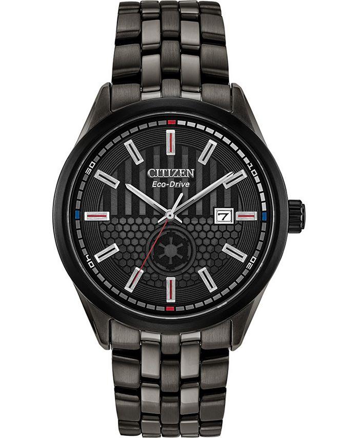 Citizen - Men's Star Wars Darth Vader Black Stainless Steel Bracelet Watch 41mm
