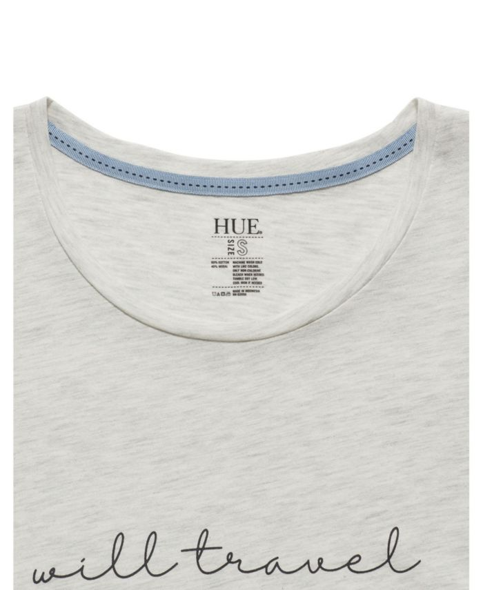 Hue Women's Will Travel for Shore Short Sleeve Scoop Neck Tee & Reviews - Bras, Panties & Lingerie - Women - Macy's